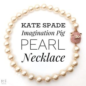 Kate Spade Imagination Pig Pearl Necklace
